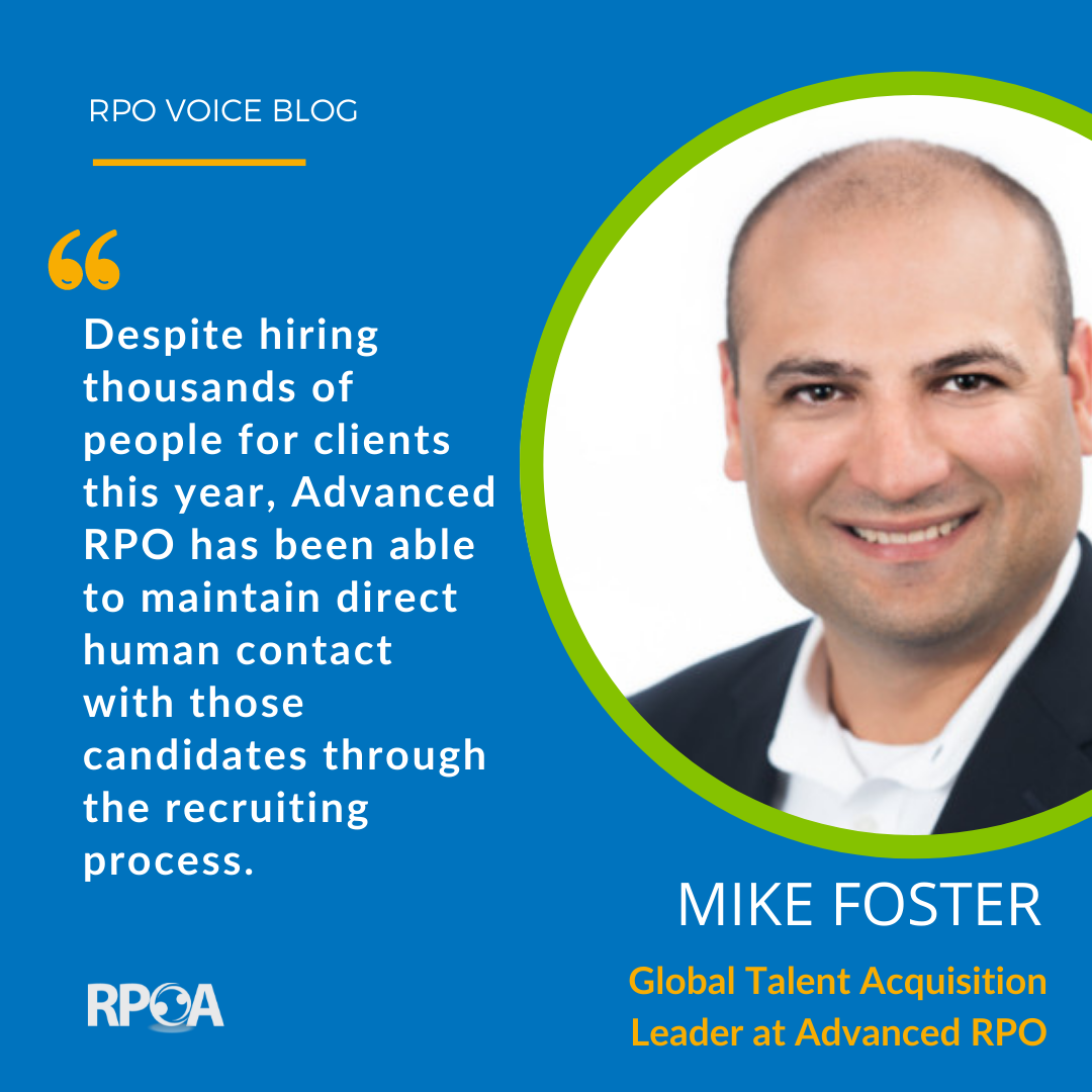 Mike Foster of Advanced RPO Discusses How COVID Reshaped Recruitment