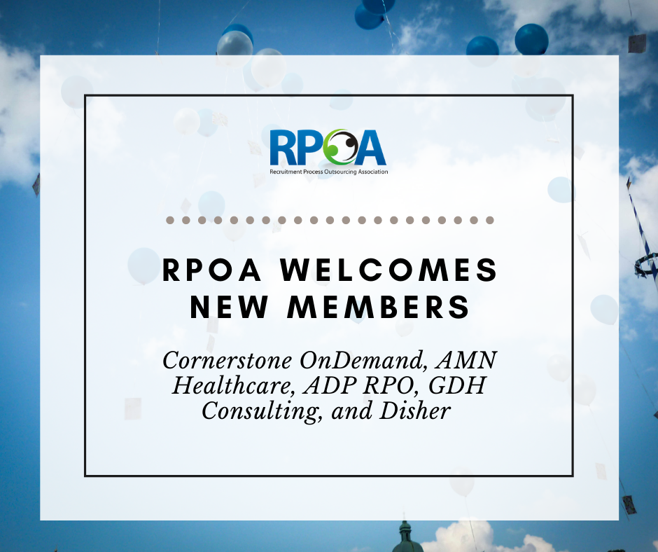 RPOA Welcomes New Members Cornerstone, AMN Healthcare, ADP RPO, GDH Consulting and Disher